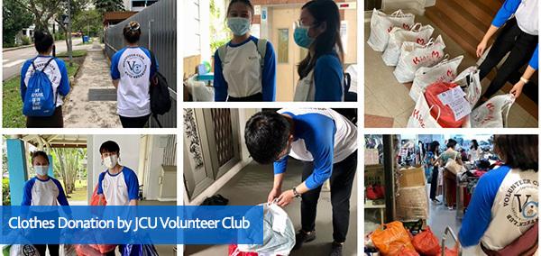 Clothes Donation by JCU Volunteer Club