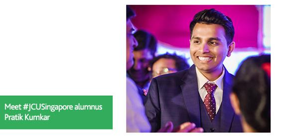 JCU Alumni Pratik Kumkar